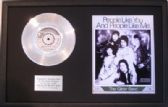 "THE GLITTER BAND -7"" Platinum Disc & Song Sheet-PEOPLE LIKE YOU & PEOPLE LIKE ME"